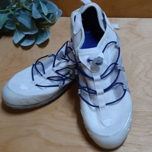 Land's End White/Blue Water Shoes